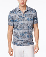 Tasso Elba Men's Big and Tall Floral Striped Polo