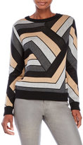 Shae Geometric Patterned Sweater