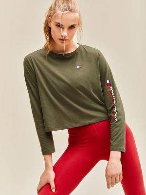 Tommy Hilfiger Long Sleeve Cropped T-Shirt