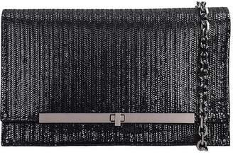 Casadei Fish Mooney Clutch In Black Leather