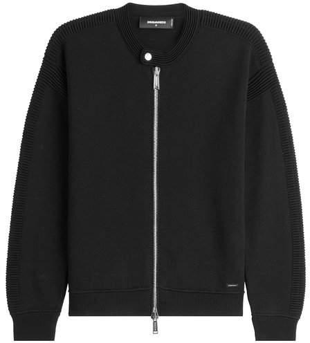 DSQUARED2 Zipped Virgin Wool Cardigan