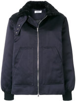Nomia zipped faux fur collar jacket