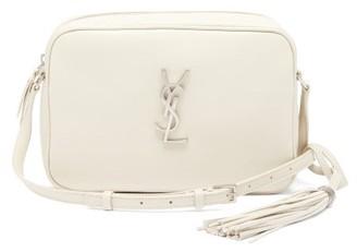 Saint Laurent Lou Medium Leather Cross-body Bag - White