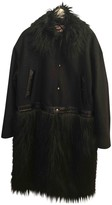 Giamba Black Wool Coat for Women