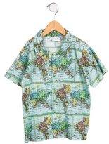 Rachel Riley Boys' Map Print Shirt