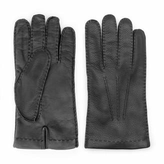 Dalgado Handmade Deer Touch Leather Gloves Black Pierluigi