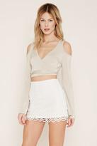 Forever 21 FOREVER 21+ Chevron-Patterned Mini Skirt