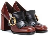 Prada Leather Brogue Loafer Pumps