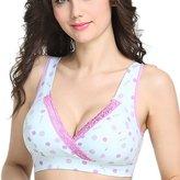 Aivtalk Women Cotton Wireless Bras Pregnant Padded Seamless Underwear Size 85/XL