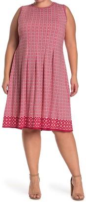 Max Studio Sleeveless Pleated Jersey Dress