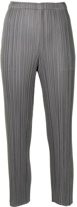 Pleats Please Issey Miyake Pleat Cropped Trousers