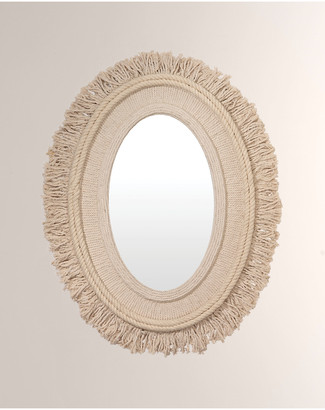 Jamie Young Fringe Oval Mirror