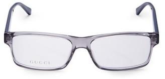 Gucci 56MM Rectangular Optical Glasses