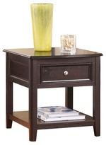 Ashley Carlyle End Table - Almost Black - Signature Design®