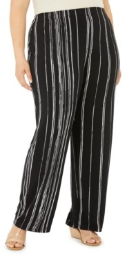 Alfani Plus Size Printed Pants, Created for Macy's