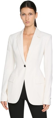 Thierry Mugler Stretch Wool Blazer