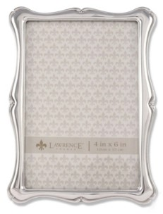 """Lawrence Frames 710246 Silver Metal Romance Picture Frame - 4"""" x 6"""""""