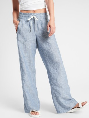 Athleta Cabo Linen Wide Leg Pant