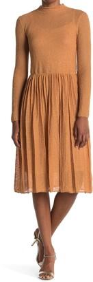 M Missoni Mock Neck Long Sleeve Dress