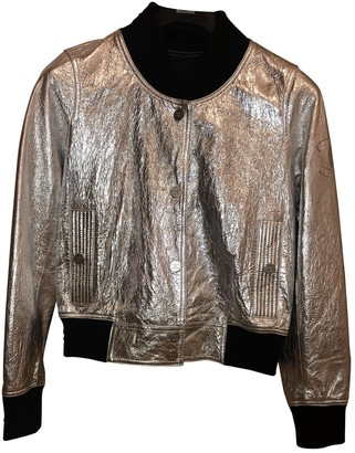 Chanel Silver Leather Jackets