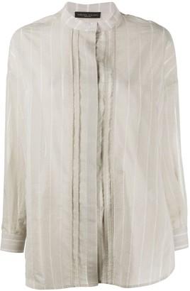Fabiana Filippi Brass-Embellished Striped Shirt