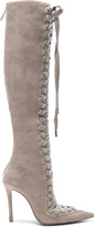 Zimmermann Lace Up Suede Long Boots