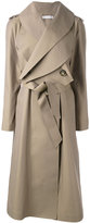 J.W.Anderson long belted coat - women - Cotton/Polyamide - 8