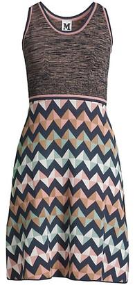 M Missoni Geometric Sleeveless A-Line Dress