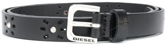 Diesel Laser Cut Studded Belt