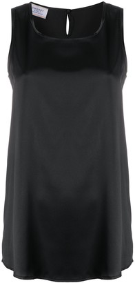 Snobby Sheep Scoop-Neck Satin Tank Top
