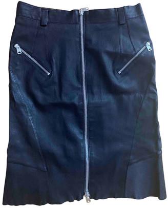 Alexander McQueen Black Leather Skirts