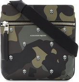 Alexander Mcqueen Skull Camouflage Leather Messenger Bag