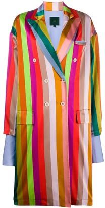 Jejia Rainbow Striped Coat