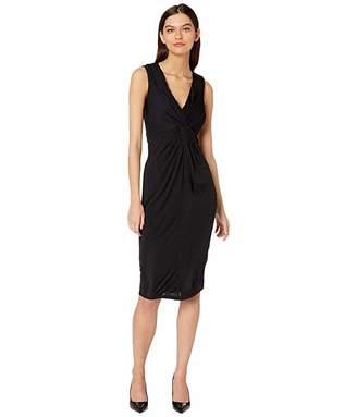 Bardot Twist Maxi Dress (Black) Women's Clothing