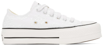 Converse White Lace Boho Mix Chuck Sneakers