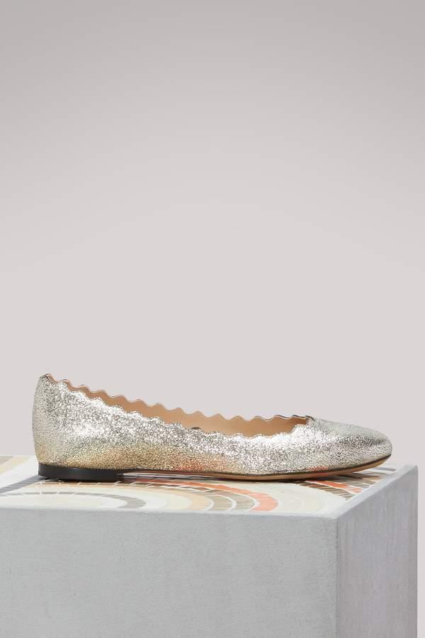 Chloé Lauren leather ballet flats