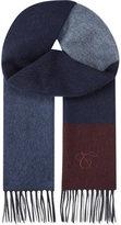 Canali Check Pattern Wool-angora Blend Scarf