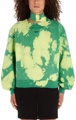 Off-White Off White Tie-Dye High-Neck Sweatshirt