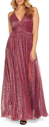 Occasion By Dex Sleeveless Crinkle Mesh Gown