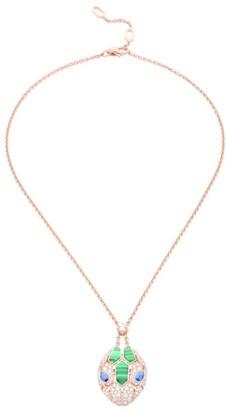 Bvlgari Rose Gold and Precious Stone Serpenti Necklace