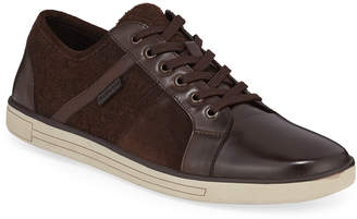 Kenneth Cole Men's Initial Step Lace-Up Leather Sneakers