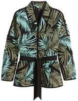 H&M Quilted Jacket - Black/khaki green - Ladies