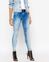 Replay Joy High Waist Faded Super Skinny Jeans