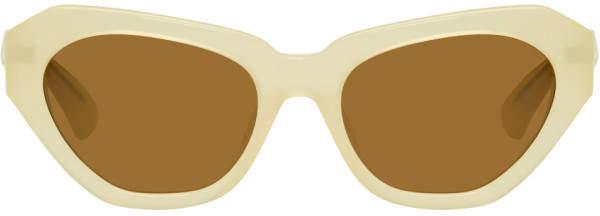 Dries Van Noten Ivory Linda Farrow Edition 166 C4 Sunglasses