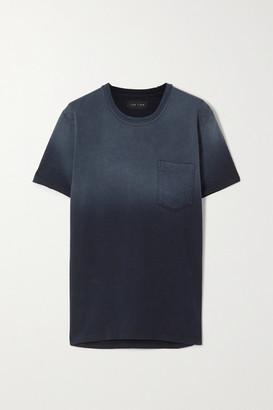 LES TIEN Ombre Cotton-jersey T-shirt - Navy