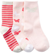 Joe Fresh Crew Socks - Pack of 3 (Toddler Girls)