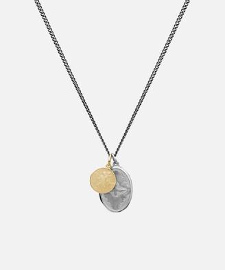 Miansai Mini Dove Pendant Necklace in Silver/Gold
