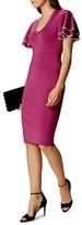 Karen Millen Ruffled-Sleeve Knit Dress