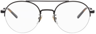 Gucci Black Semi-Rimless Glasses