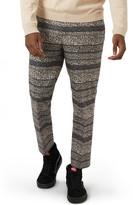 Topman Skinny Fit Print Crop Trousers